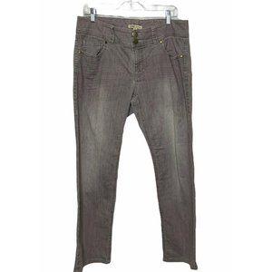 Cabi Gray Wash Straight Leg Denim Jeans Size 12